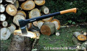 Richtig Holz Spalten Mit Axt Oder Spalter Brennholz Machen Aber